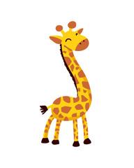 Giraffe. Cute flat vector Illustration