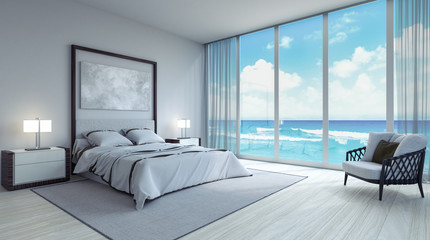 Modern bedroom interior design 3d Render 3d illustration