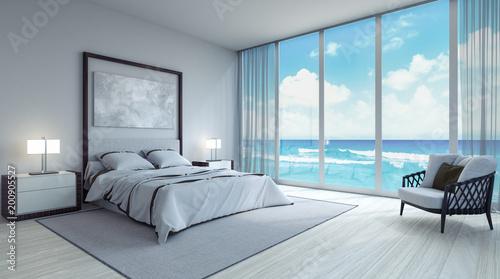 modern bedroom interior design 3d render 3d illustration