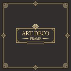 Art Deco Border frame vector 04