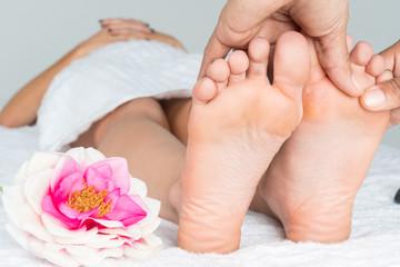 Woman Getting A Foot Massage