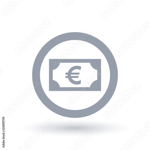 Euro Money Symbol European Paper Currency Icon Stock Image And