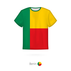 T-shirt design with flag of Benin.