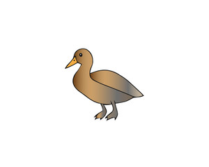 Duck icon. Isometric illustration of duck vector icon for web