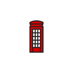 Phone Box Flat Icon Vector