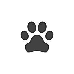 Animal Track Flat Icon Vector