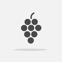 grapes vector icon berries