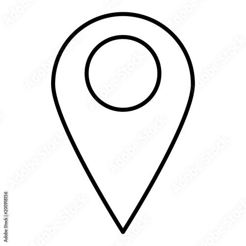 line destination map location explore symbol stock image and