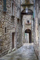 Keuken foto achterwand Smal steegje Old town with narrow alleys