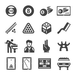 snooker,billiard icon set