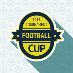 Soccer cup badge
