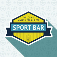 Soccer pub badge