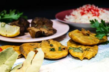 Tasty Indian food mix pakora