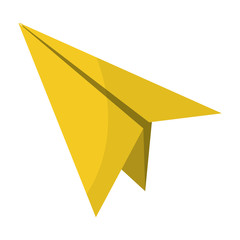 paper airplane fly origami object