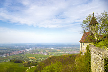 a panoramic view from Castle Teck Germany