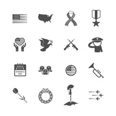 Memorial day icon. Festival and Holiday concept. Glyph and outlines stroke icons theme. Sign and Symbol theme. Vector illustration graphic design collection set. American holiday. Last Mondays in May
