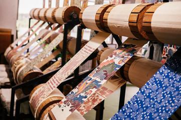 Okinawa coral printing fabric, handmade scarft
