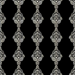 vintage ethnic pattern with hamsa, hand drawn vector illustration