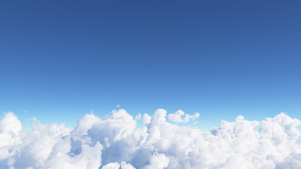 Blue sky with clouds 3D render Fototapete