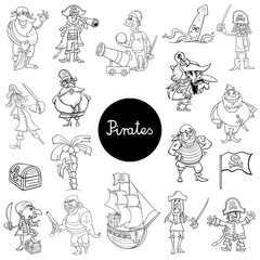 cartoon pirate characters collection