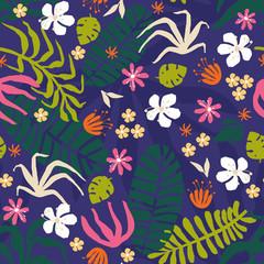 Creative flower seamless pattern
