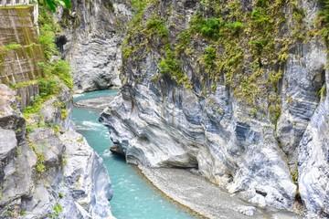 Indian Chief Rock at Taroko Gorge National Park in Taiwan
