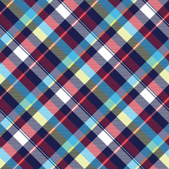 Blue check seamless pattern fabric textile