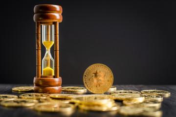 bitcoin and hourglass
