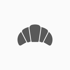 croissant icon, bread vector