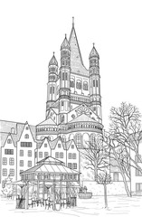 Sketch of the Cathedral of St. Martin