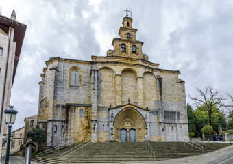 The Iglesia Santa Maria church in Gernika, a historic town in the province of Biscay (Bizkaya), Spain.