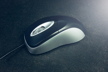 Computer mouse with cord