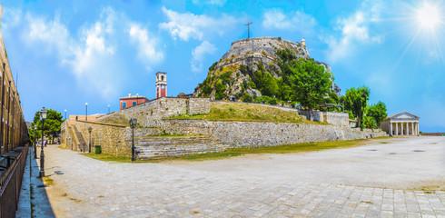 Wall Mural - Old fortress of Kerkyra, capital of  Corfu island, Greece.