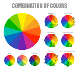 Color Combination Scheme Poster