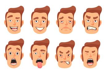 Men Facial Gestures Set