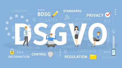 DSGVO concept illustration.