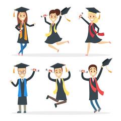 Graduated students set.