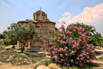 Typical stone church, Greece