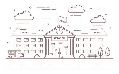 Line school building.