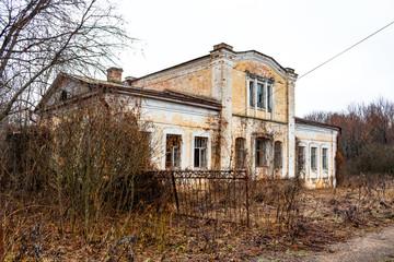 Abandoned Kudryavtsev Estate in the village of Panskoe, 19th century, Maloyaroslavetsky District, Kaluzhskaya Region, Russia