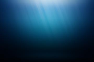 Underwater blue background in ocean