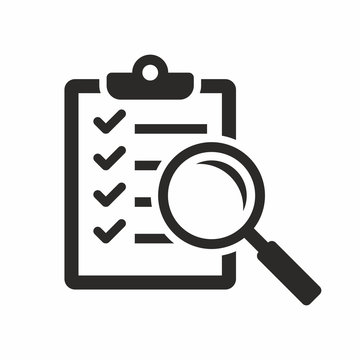 Magnifier assessment checklist icon