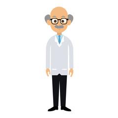 Male doctor cartoon vector illustration graphic design