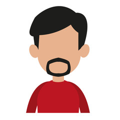 Boy faceless profile cartoon vector illustration graphic design