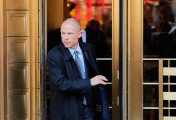Michael Avenatti, lawyer for adult film actress Stephanie Clifford, also known as Stormy Daniels, leaves federal court in Manhattan