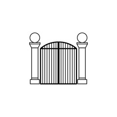 metal gates icon. Element of door, window and gate for mobile concept and web apps. Thin line icon for website design and development, app development. Premium icon