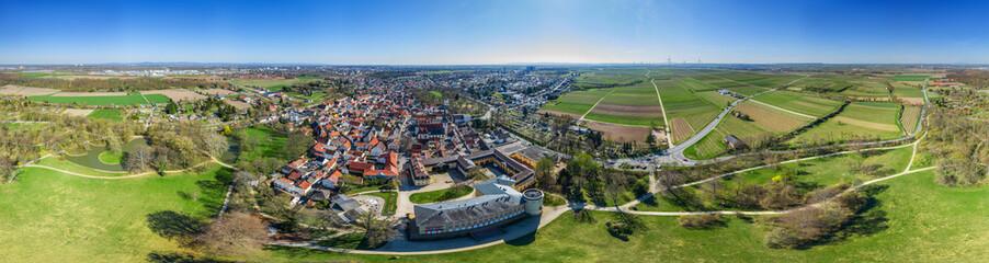 Luftbild Herrnsheim Richtung Süden 360 Grad Panorama