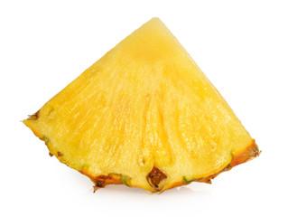 Pineapple slice isolated white background