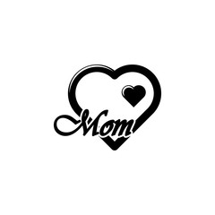 heart i love you mom icon. Element of mothers day icon. Premium quality graphic design icon. Signs and symbols collection icon for websites, web design, mobile app