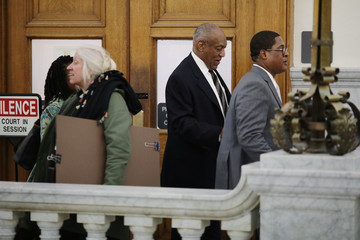 Actor and comedian Bill Cosby leaves the courtroom during a recess on the sixth day of his sexual assault retrial at the Montgomery County Courthouse in Norristown, Pennsylvania